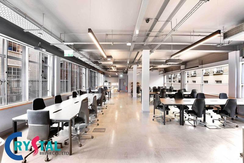không gian văn phòng đẹp - Crystal Design TPL