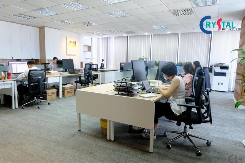 không gian văn phòng làm việc chung - Crystal Design TPL