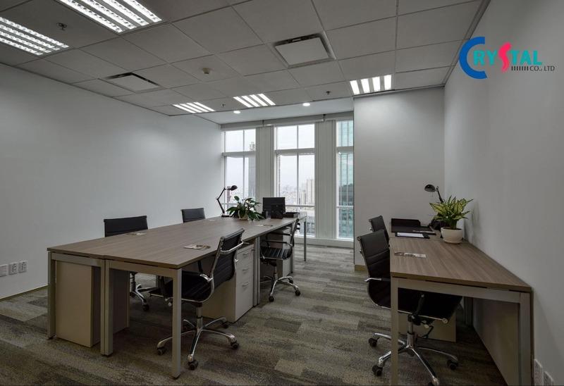 không gian văn phòng - Crystal Design TPL