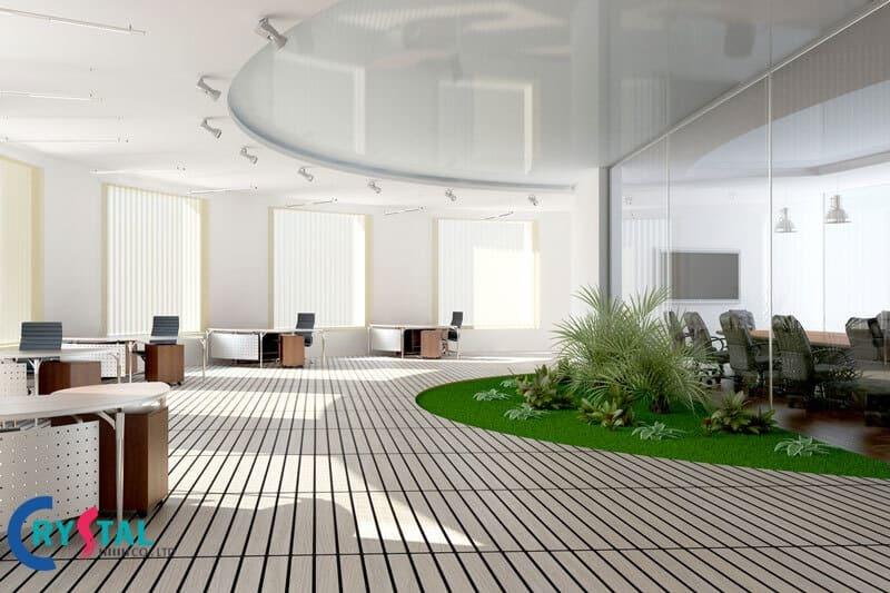 không gian xanh trong văn phòng làm việc - Crystal Design TPL