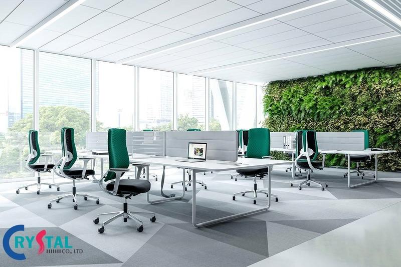 không gian xanh văn phòng - Crystal Design TPL