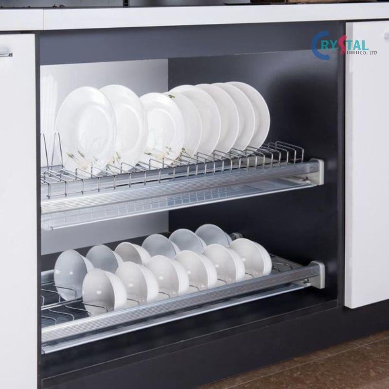 Kích thước tiêu chuẩn dành cho giá bát, đĩa tủ bếp được dùng phổ biến hiện nay