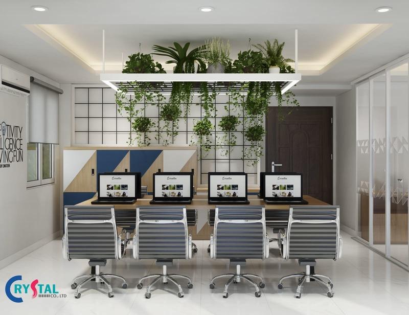 Thiết kế giá treo cây phù hợp cho những văn phòng có diện tích nhỏ và trung bình
