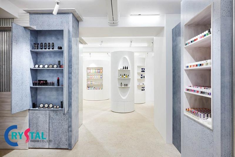 kinh nghiệm thiết kế cửa hàng - Crystal Design TPL