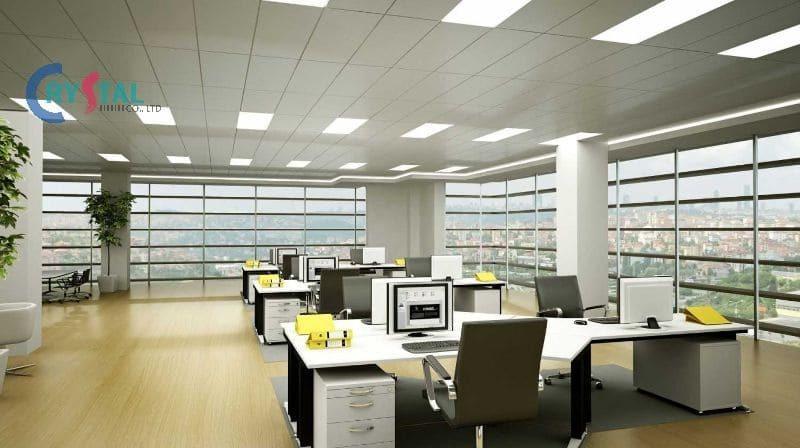mặt bằng văn phòng cho thuê - Crystal Design TPL