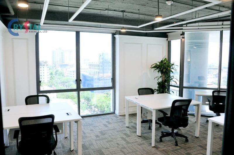 mặt tiền văn phòng đẹp - Crystal Design TPL