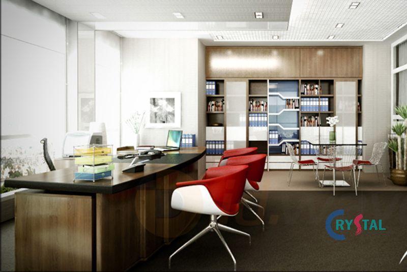 mẫu nội thất phòng làm việc ấn tượng - Crystal Design TPL