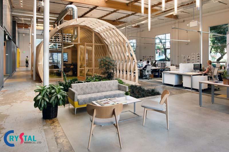 mẫu phong cách thiết kế nội thất văn phòng - Crystal Design TPL