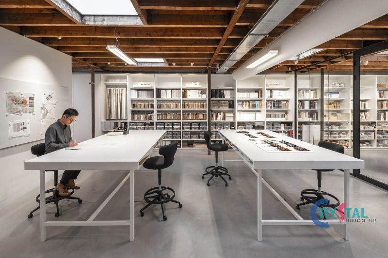mẫu phòng làm việc đẹp - Crystal Design TPL