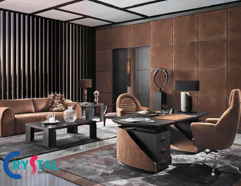 mẫu phòng làm việc giám đốc - Crystal Design TPL