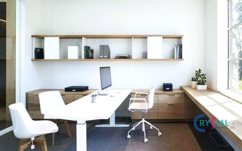 mẫu phòng làm việc tại nhà sang trọng - Crystal Design TPL
