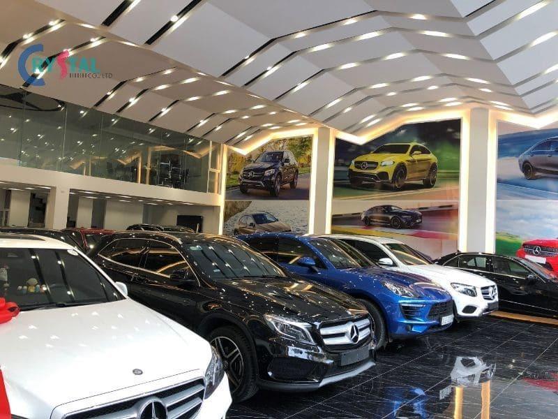mẫu phòng trưng bày showroom ô tô - Crystal Design TPL