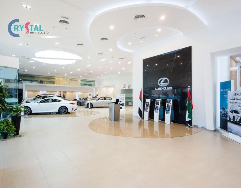 mẫu phòng trưng bày showroom xe hơi - Crystal Design TPL
