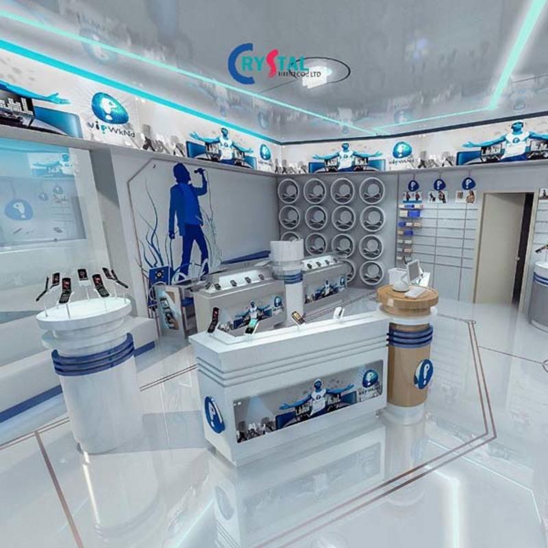 mẫu thiết kế cửa hàng trưng bày đẹp - Crystal Design TPL