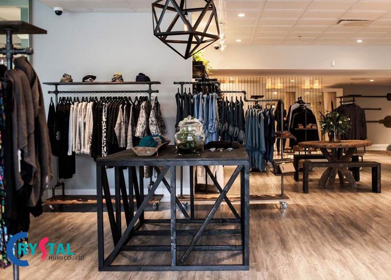 mẫu thiết kế nội thất cửa hàng quần áo - Crystal Design TPL