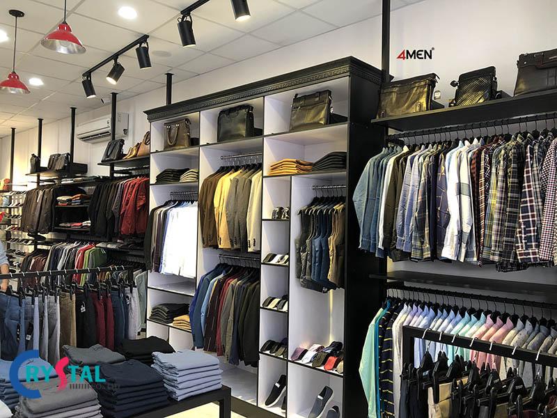 mẫu thiết kế nội thất shop quần áo đẹp - Crystal Design TPL
