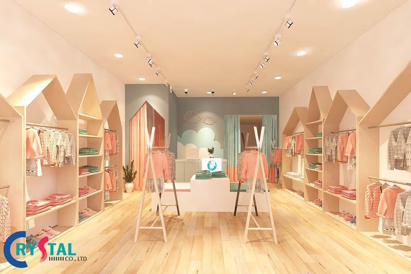 mẫu thiết kế nội thất shop thời trang hot nhất - Crystal Design TPL