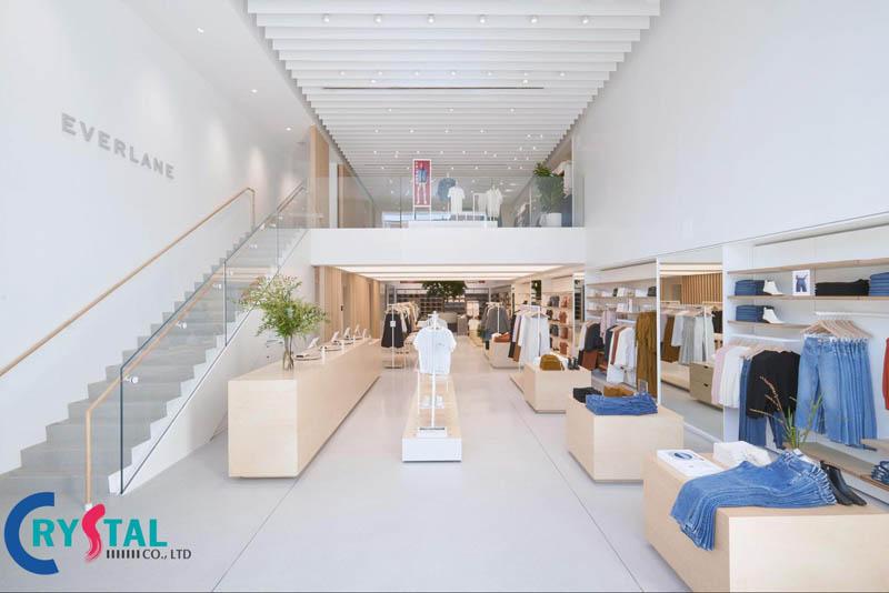 mẫu thiết kế nội thất shop thời trang - Crystal Design TPL