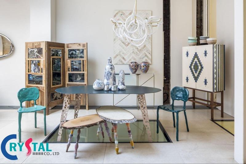 mẫu thiết kế nội thất shop - Crystal Design TPL