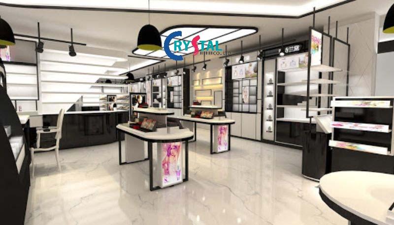 mẫu thiết kế nội thất showroom sang trọng - Crystal Design TPL