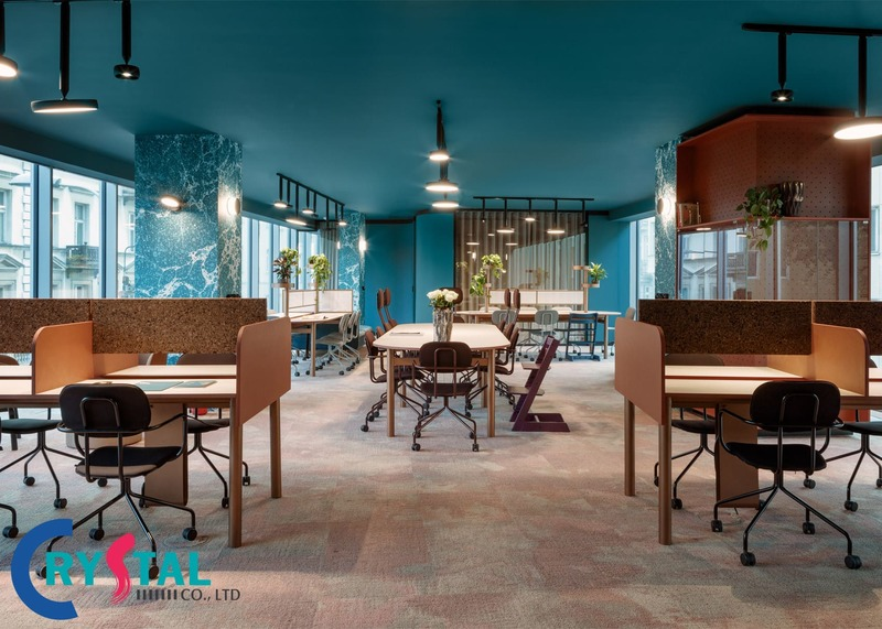 mẫu thiết kế nội thất văn phòng đẹp - Crystal Design TPL