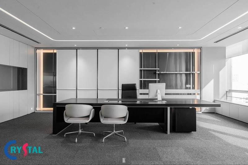 mẫu thiết kế phòng làm việc giám đốc đẹp - Crystal Design TPL