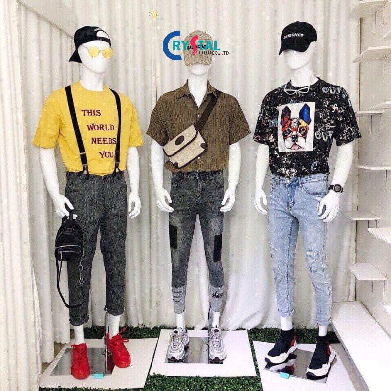 mẫu thiết kế shop quần áo nam - Crystal Design TPL