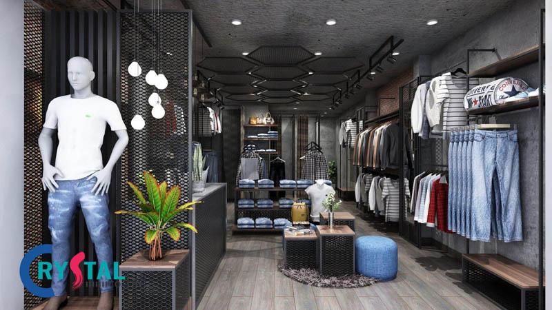 mẫu thiết kế shop thời trang nam - Crystal Design TPL