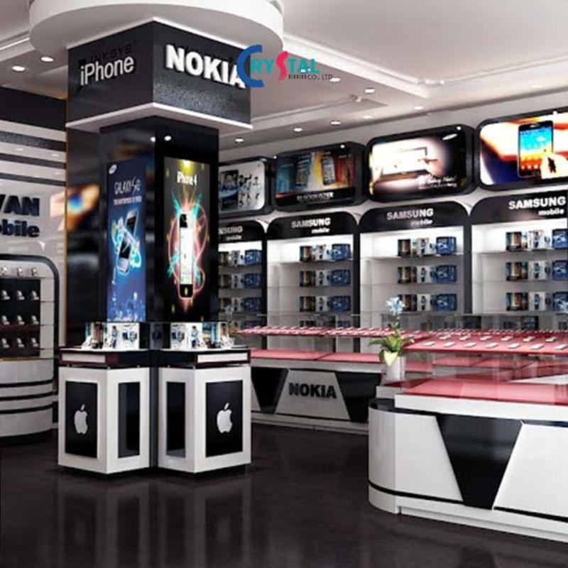 mẫu thiết kế showroom đẹp hiện đại - Crystal Design TPL