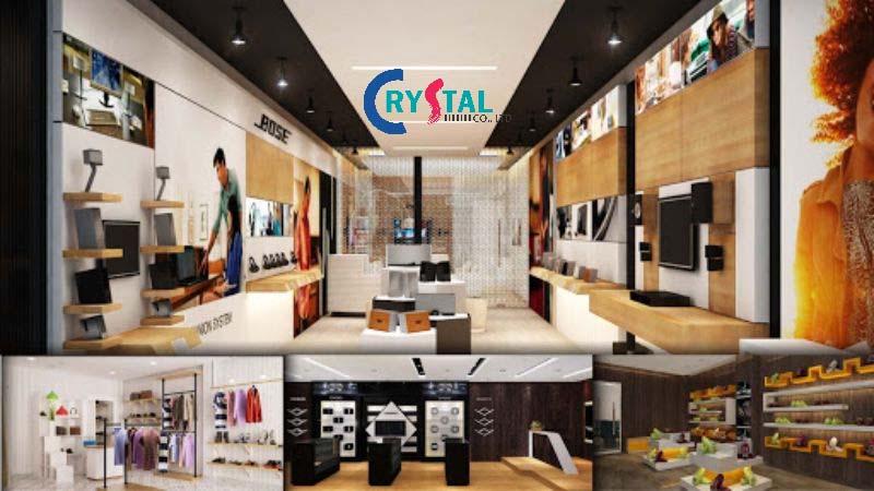 mẫu thiết kế showroom đẹp - Crystal Design TPL