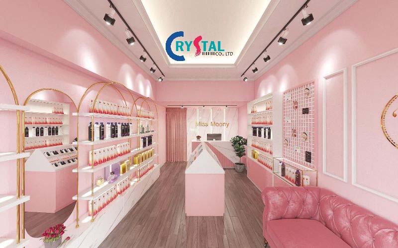 mẫu thiết kế showroom độc đáo - Crystal Design TPL