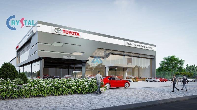 mẫu thiết kế showroom ô tô đẹp ấn tượng - Crystal Design TPL