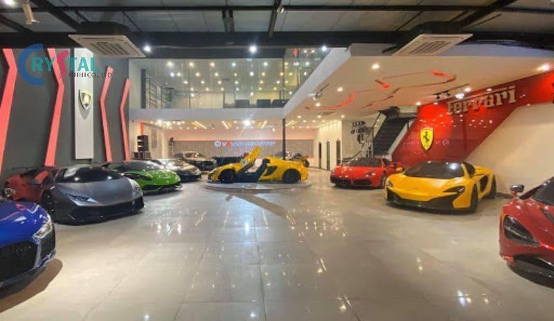mẫu thiết kế showroom ô tô đẹp thu hút - Crystal Design TPL