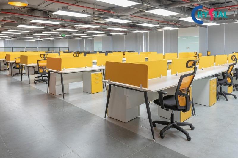 mẫu thiết kế văn phòng bds - Crystal Design TPL