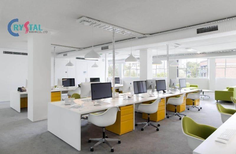 mẫu thiết kế văn phòng cho thuê - Crystal Design TPL