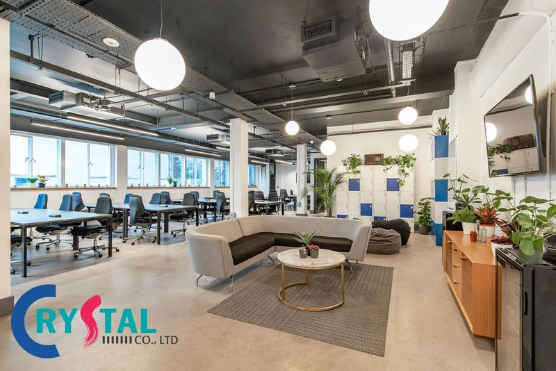 mẫu thiết kế văn phòng công ty - Crystal Design TPL