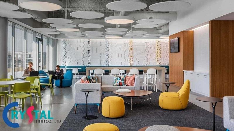 mẫu thiết kế văn phòng hiện đại đa phong cách - Crystal Design TPL