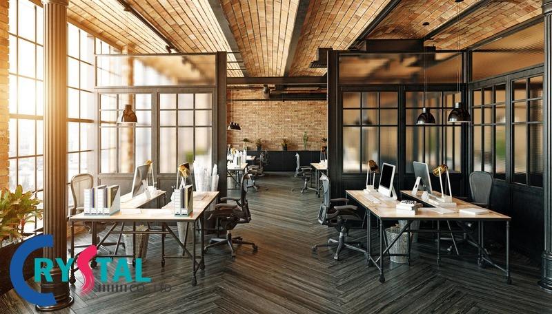 mẫu thiết kế văn phòng hiện đại đẹp - Crystal Design TPL