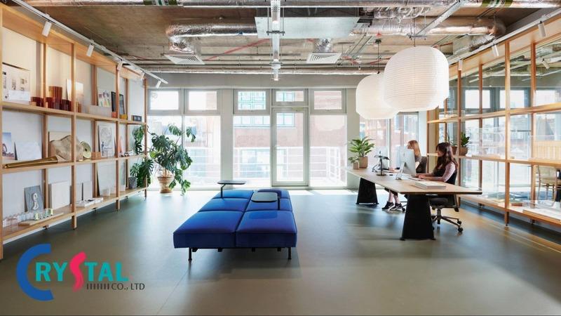 mẫu thiết kế văn phòng - Crystal Design TPL