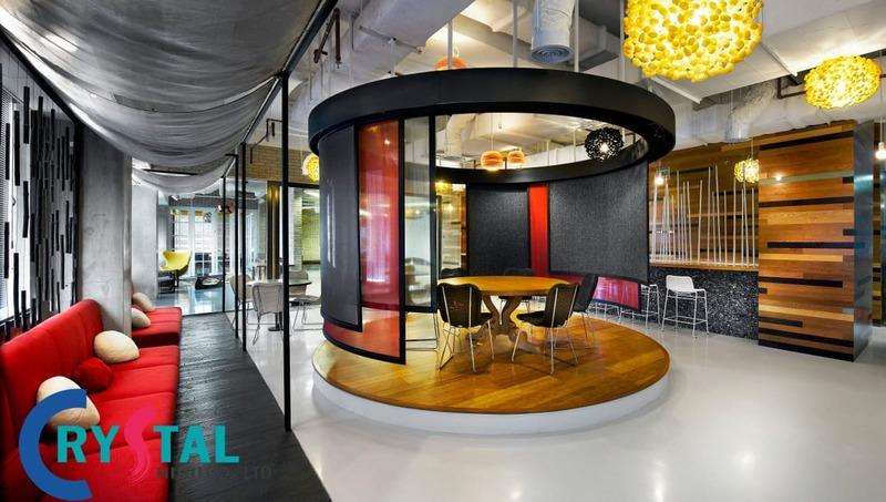 mẫu văn phòng đẹp hiện đại - Crystal Design TPL