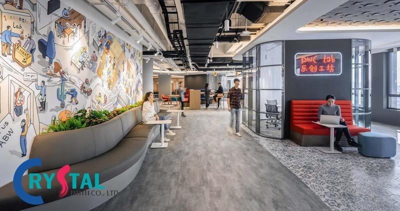 mẫu văn phòng hiện đại - Crystal Design TPL