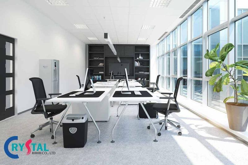 mẫu văn phòng làm việc đẹp - Crystal Design TPL