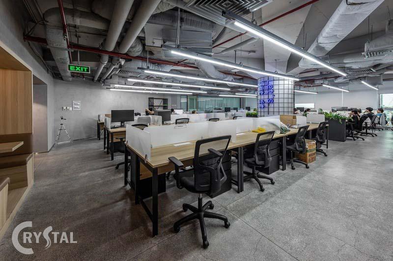 mô hình văn phòng làm việc hiện đại - Crystal Design TPL
