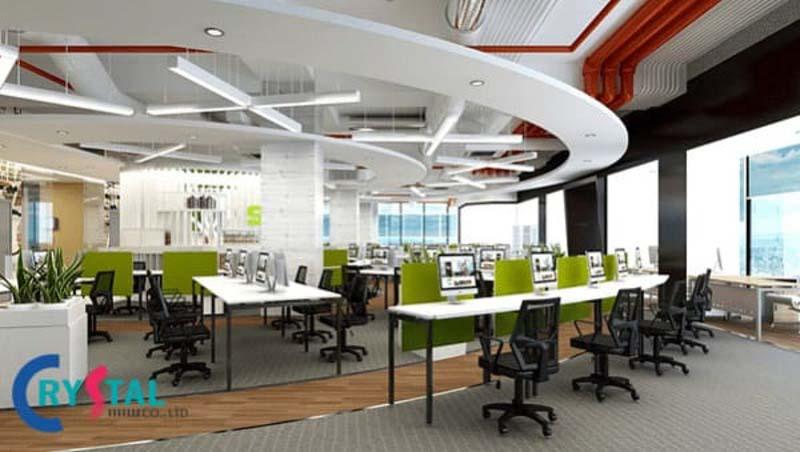 mô hình văn phòng hiện đại được yêu thích - Crystal Design TPL