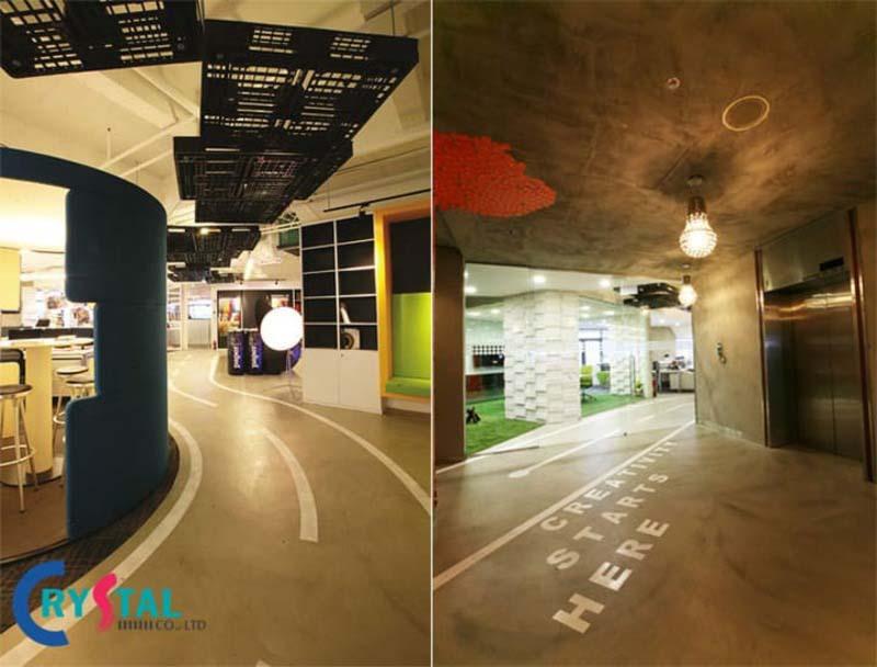 văn phòng sử dụng vật liệu tái chế - Crystal Design TPL