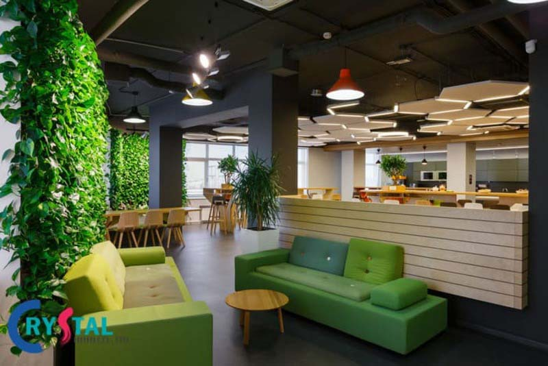 Mô hình văn phòng hiện đại thiết kế xanh - Crystal Design TPL