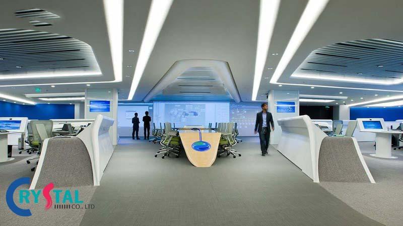mô hình văn phòng công nghệ - Crystal Design TPL