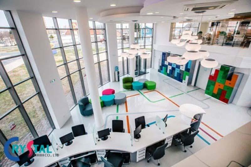 mô hình văn phòng hiện đại - Crystal Design TPL