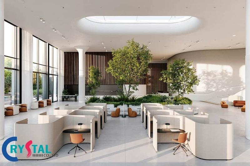 môi trường làm việc không gian xanh - Crystal Design TPL