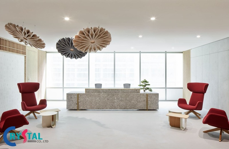 nguyên tắc bố trí văn phòng làm việc - Crystal Design TPL